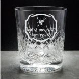 Lang May Yer Lum Reek Hogmanay Whisky Glass, PERSONALISED, ref LMCW